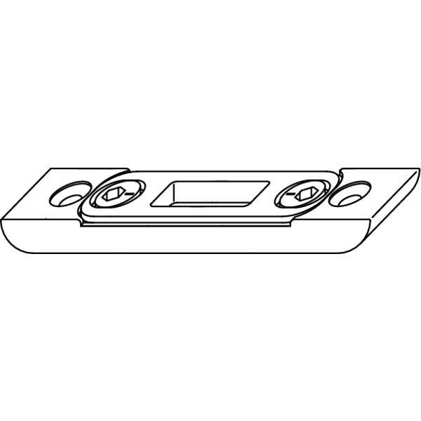 Uzávěr zástrče MACO-Multi, 4L, spodní, pozinkovaný stříbrný - Protikus k dveřní zástrči MACO-MULTI