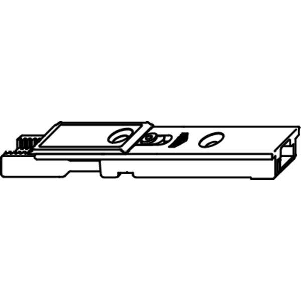 Ukončení horního hranového uzávěru, ocel pozink stříbřitý - koncovka horní pro hranový uzávěr