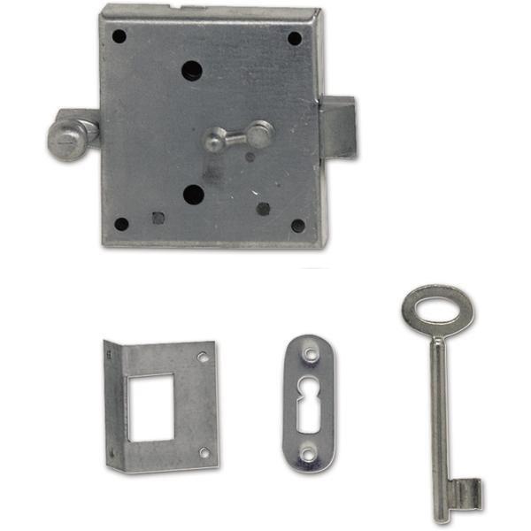 Západkový zámek s 1 klíčem, ocel pozink