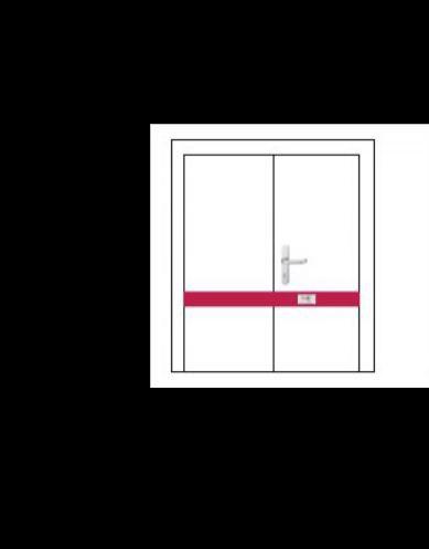 Závora na dvoukřídlé dveře DOM - dvoubodová - Dveřní závory na dvoukřídlé dveře