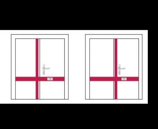 Závora na dvoukřídlé dveře DOM - čtyřbodová - Dveřní závory na dvoukřídlé dveře