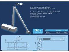 Dveřní zavírač Richter RZ 903 - stříbrný DVEŘE - Dveřní zavírače - Zavírače s ramínkem - Zavírače s ramínkem Richter