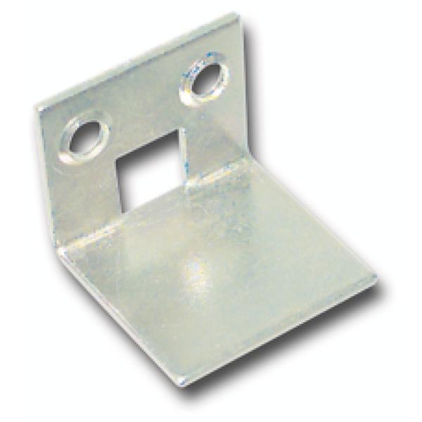 Protiplech pro vkládací tyče zalomené, 21 x 25 mm, pozink. ocel - Uzávěr pro ovládací tyč
