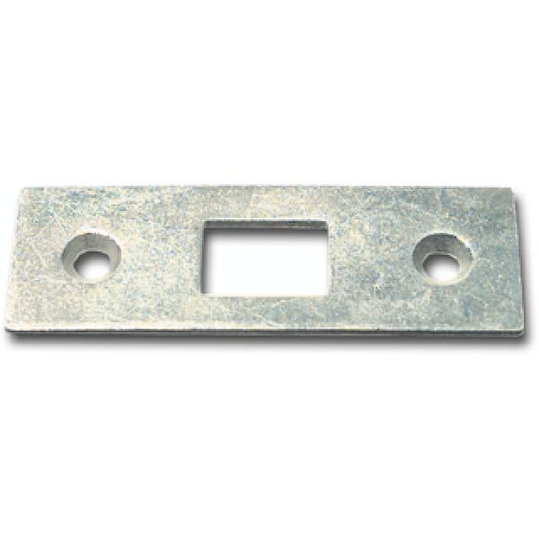 Protiplech pro vkládací tyče rovné, 53 x 18 mm, pozink. ocel - Uzávěr pro ovládací tyč