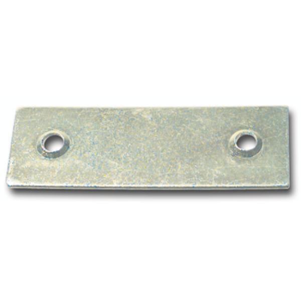 Krycí plech pro táhlo, 18 x 53 mm, ocel pozinkovaná - Krycí plech pro uzavírací tyč