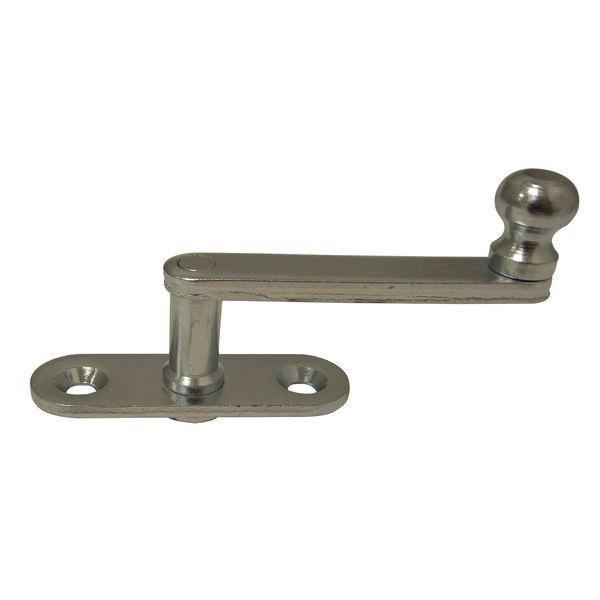 Obrtlík na kulaté destičce, 17 mm - Okenní obrtlík na oválné podložce