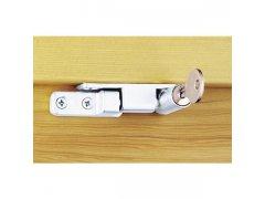 Pojistka otevírání samozavírací, uzamykatelná, zinkový odlitek stříbrný (10535) OKNA - Okenní pojistky