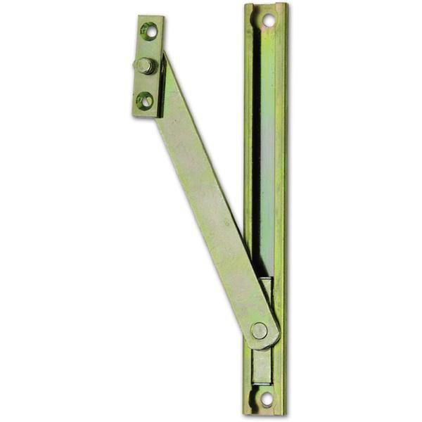 Nůžky pro sklopné okno - skryté, se závěsnou deskou, ocel žlutě pasivovaná - Okenní aretace, otvírače