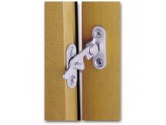 Stavěč větrání MACO, pro 2-křídlá okna, levý, ocel pozinkovaná stříbrná (10893) OKNA - Okenní aretace, otvírače