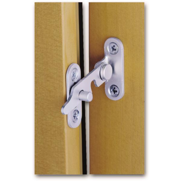 Stavěč větrání MACO, pro 2-křídlá okna, pravý, ocel pozinkovaná stříbrná (10892) - Okenní aretace, otvírače