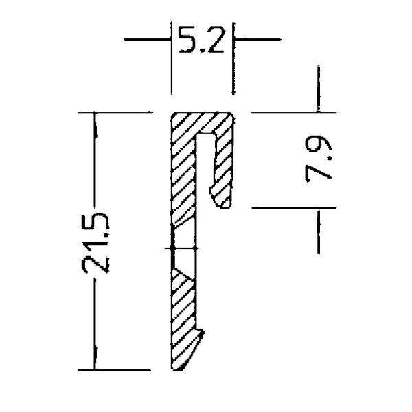 Klipový držák ST 20 pro skryté okapnice