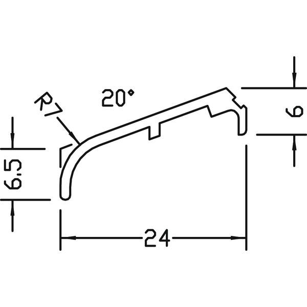Křídlová okapnice FP 8532, hliník přírodní,cena za 1m