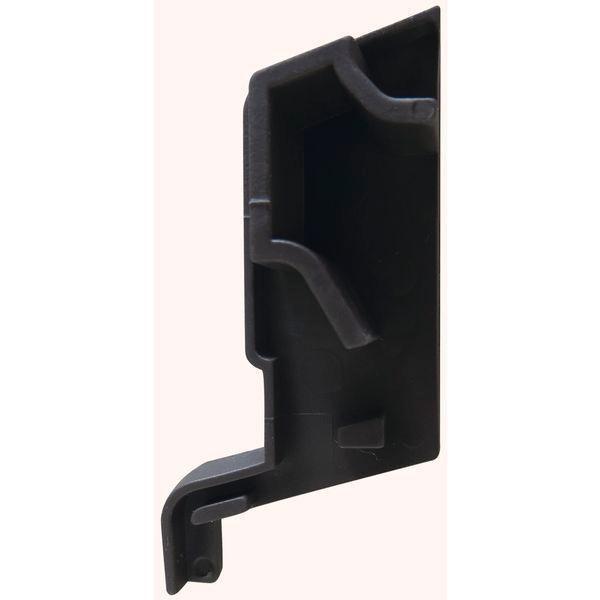 Koncovka k SPREE-D 24 OF, levá, plast hnědý - Profily proti větru a dešti - Okapnice