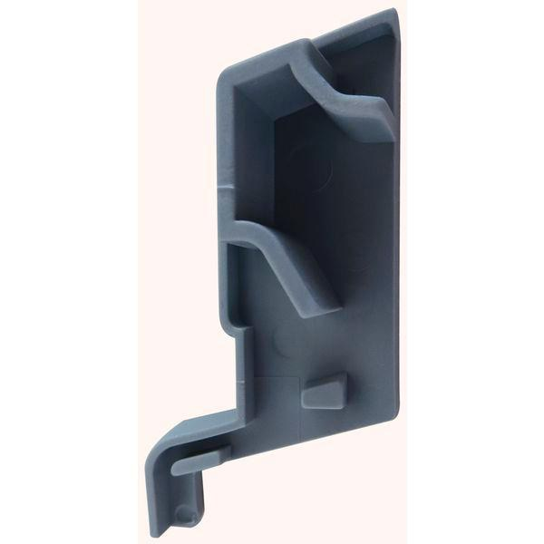 Koncovka k SPREE-D 24 OF, levá, plast šedý - Profily proti větru a dešti - Okapnice-Nelze poslat Zásilkovnou