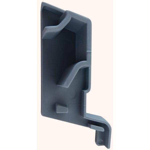 Koncovka k SPREE-D 24 OF, pravá, plast šedý - Profily proti větru a dešti - Okapnice-Nelze poslat Zásilkovnou