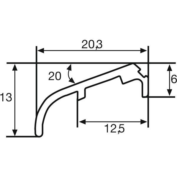 Křídlová okapnice FP 6257, 6000 mm, hliník bílá RAL 9016, cena za 1m - Profily proti větru a dešti - Okapnice
