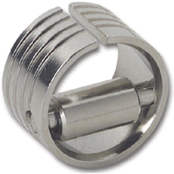 Válečkový protiplech pro posuvnou tyč SOLIDO, ø 18 mm, hloubka 11 mm, mosaz - Nábytkový zámek rozvorový