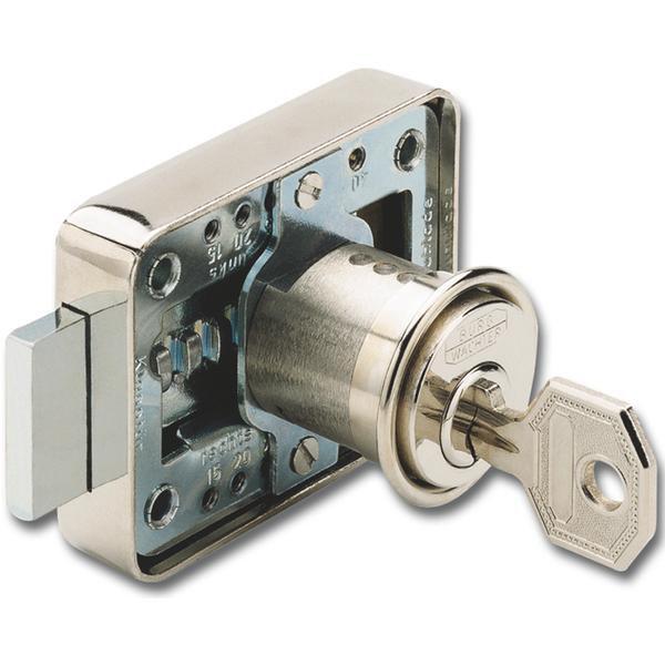 Cylindrický kazetový zámek MZ 23, různé blokování, délka 25 mm, vložka ponikl. - Cylindrické nábytkové zámky, schránkové zámky