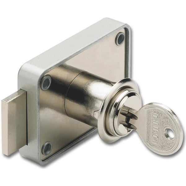 Cylindrický kazetový zámek MZ 83, stejné blokování, vložka zinek poniklovaný - Cylindrické nábytkové zámky, schránkové zámky