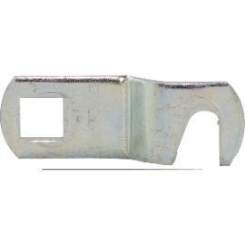 Uzamykací nos vyhnutý pro cyl.vložku pro montáž do dřeva, d 25 mm, ocel pozink - Cylindrické nábytkové zámky, schránkové zámky