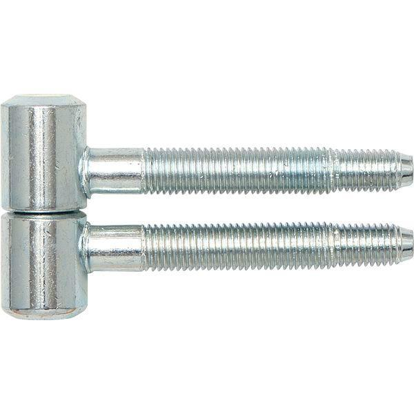 Dveřní závěs k zavrtání, 16 mm, ocel pozinkovaná