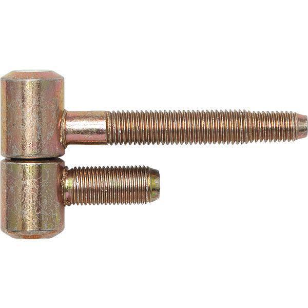 Závěs pro ocel.zárubně 2-dílný, pro falc.dřevěné dveře, 16 x 41 mm, žlutě pasiv.