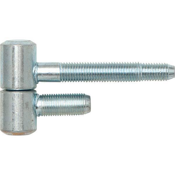 Závěs pro ocel.zárubně 2-dílný, pro falc.dřevěné dveře, 16 x 41 mm, ocel pozink.