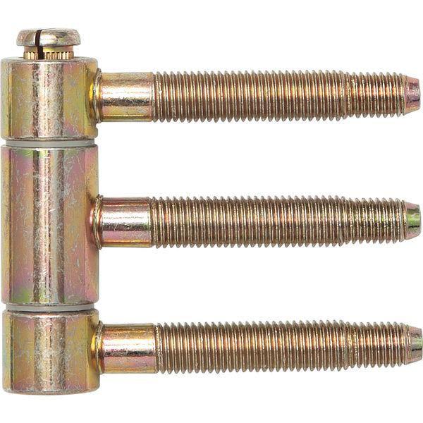Závěs k nasunutí 3-dílný pro falc.dřev.dveře Ø 18 mm,výška 46,7 mm,ocel žl.pas.