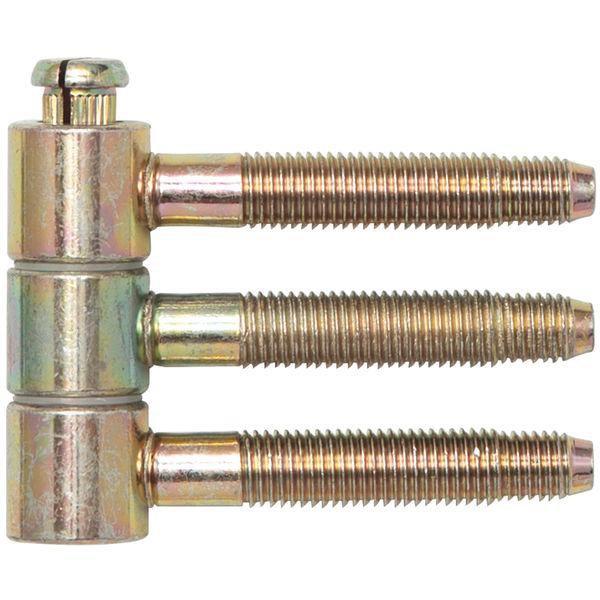 Závěs k nasunutí 3-dílný pro falc.dřev.dveře Ø 16 mm,výška 46,7 mm,ocel žl.pas.