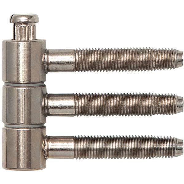 Závěs k nasunutí 3-díl.pro falc.dřev.dveře Ø 16 mm,výška 46,7 mm, ocel pomosaz.