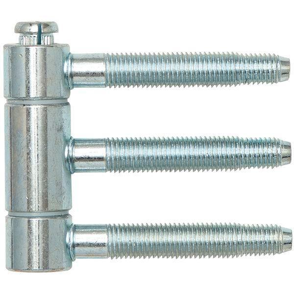 Závěs k nasunutí 3-dílný pro falc.dřev.dveře Ø 18 mm,výška 61 mm, ocel pozink.