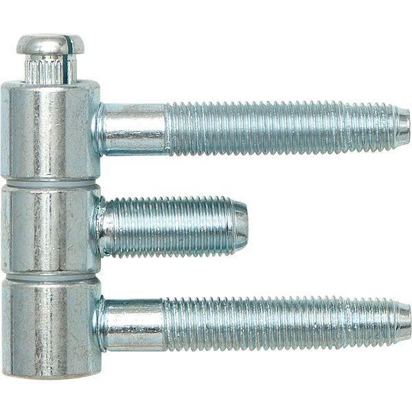 Závěs pro ocel.zárubně 3-díl., pro falc.dřevěné dveře, 16 x 46,7mm, ocel pozink