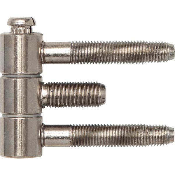 Závěs pro ocel.zárubně 3-díl., pro falc.dřevěné dveře, 16 x 46,7mm, ocel ponikl.