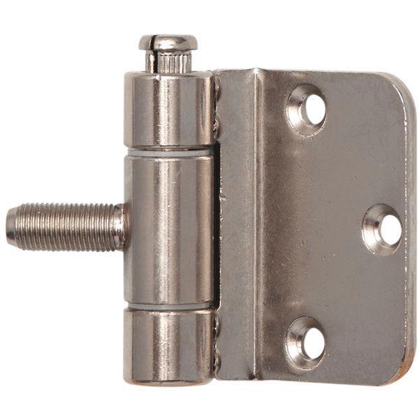 Závěs pro ocel.zárubně 3-dílný, pro bezfalcové dveře, 18 x 62 mm, ocel ponikl.