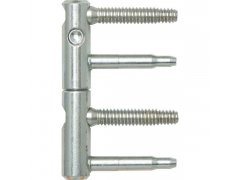 Dv.závěs ANUBA 3-DIM, 2-dílný,čepy 45 mm, výš.závěsu 92mm, ø 15mm,pozink stříbr. DVEŘE - Panty, Dveřní závěsy - Panty na dveře SFS