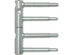Dv.závěs ANUBA 3-DIM, 2-dílný,čepy 60mm, výš.závěsu 92mm, ø 15mm, pozink stříbr. DVEŘE - Panty, Dveřní závěsy - Panty na dveře SFS