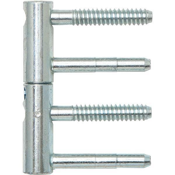 Závěs pro dřevěné dveře SOLIDO, 3D-DIM, 2-dílný, 14 mm, ocel pozinkovaná