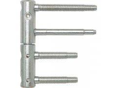 Dveřní závěs 3-DIM 2-díl.,čepy 80 resp.55mm, nosn.120 kg, ø 20mm, pozink stříbr. DVEŘE - Panty, Dveřní závěsy - Panty na dveře SFS