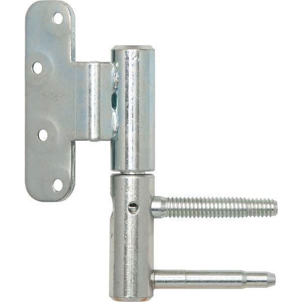 Dv.závěs3-DIM 2díl.pro bezfalz.dveře,ø20mm levý,výška závěsu112mm,stříbř.poz.
