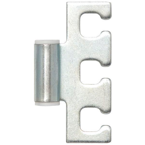 Dveřní závěs rámový díl VX 11.304, výška 38,5 mm, ocel pozink