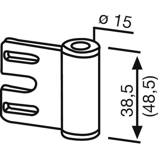 Dveřní závěs rámový díl 11.309, výška závěsu 48,5 mm, ocel pozinkovaná
