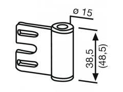 Dveřní závěs rámový díl 11.309, výška závěsu 38,5 mm, ocel pozinkovaná DVEŘE - Dveřní závěsy, panty - Závěsy zavrtávací