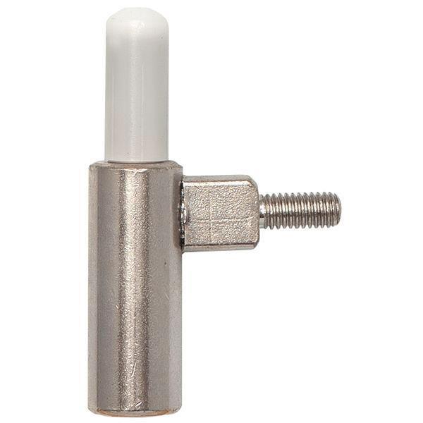 Dveřní závěs rámový díl INCANTO 2-dílný závěs ø 15 mm, ocel poniklovaná