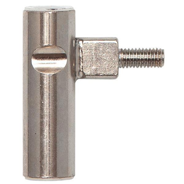 Dv.závěs rám.díl INCANTO 3-dílný,zalomený,pravý,výška záv. 48,5mm,ocel ponikl.