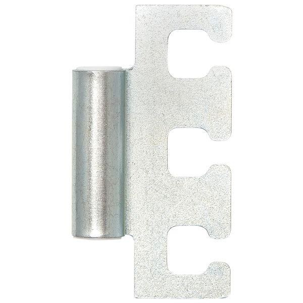 Dveřní závěs rámový díl VX 11.304, výška 48,5 mm, ocel pozink