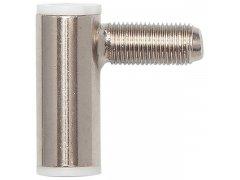 Dveřní závěs RÁMOVÝ díl SCH 27-37, pravý, výška závěsu 38,5 mm, ocel poniklovaná Dveře - Dveřní panty, Dveřní závěsy - Závěsy zavrtávací