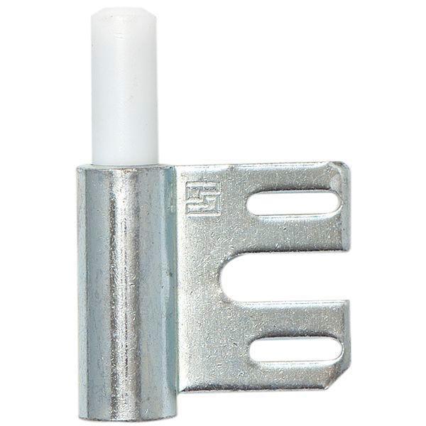 Dveřní závěs - rámový díl V 8100 WF pro falc. dveře, závěs ø 15 mm, pozink. ocel