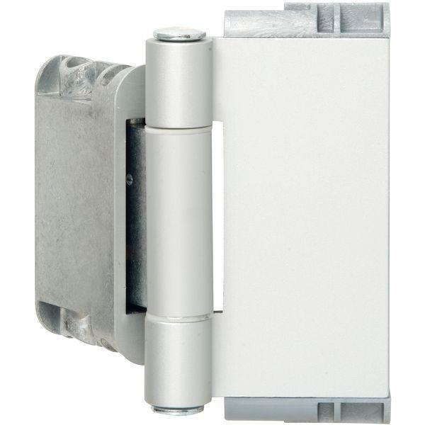 Závěs domovních dveří Easy 3D se zajištěním pantů, hliník, chromovaný mat elox. - 3D panty