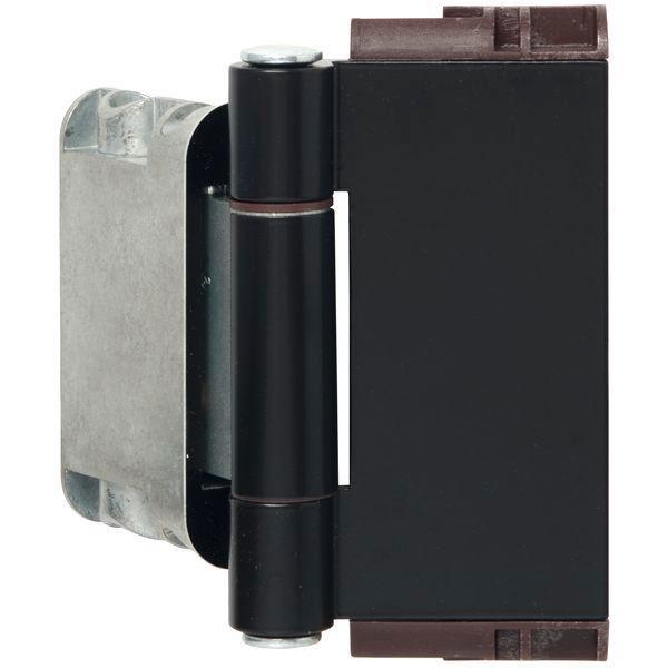 Závěs domovních dveří Easy 3D se zajištěním pantů, hliník černý matný - 3D panty