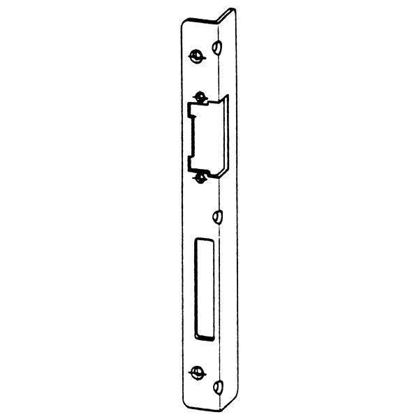 Úhlový protiplech k KFV AS pro střelku a závoru, falc 4mm, pravý, pozink stř. - Protiplechy pro zámky KFV